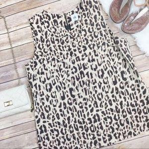 Cabi Ginger Leopard Sleeveless Blouse